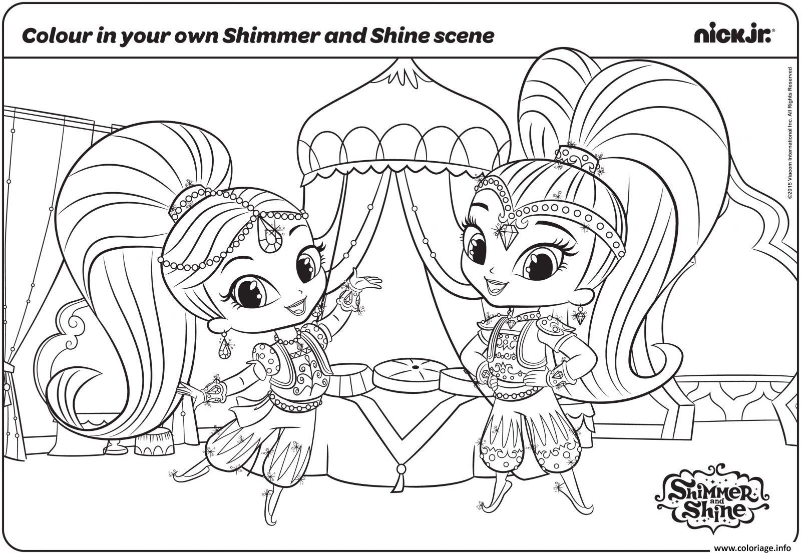 Coloriage Shimmer Et Shine Fun With Colouring Page Dessin   Imprimer