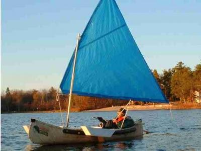 SailboatsToGo»Canoe sail rig plans & how to sail instructions
