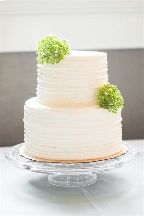 Two tier white wedding cake from Whole Foods. Jessica's