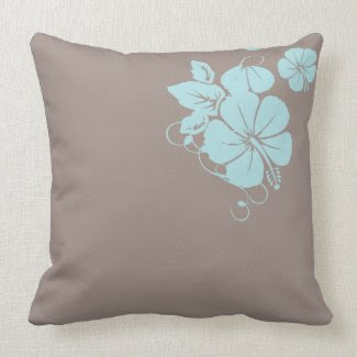 Hibiscus Pillow throwpillow