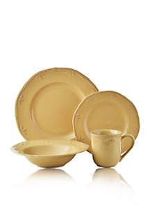 thomson pottery sicily caramel  pc dinnerware set belk
