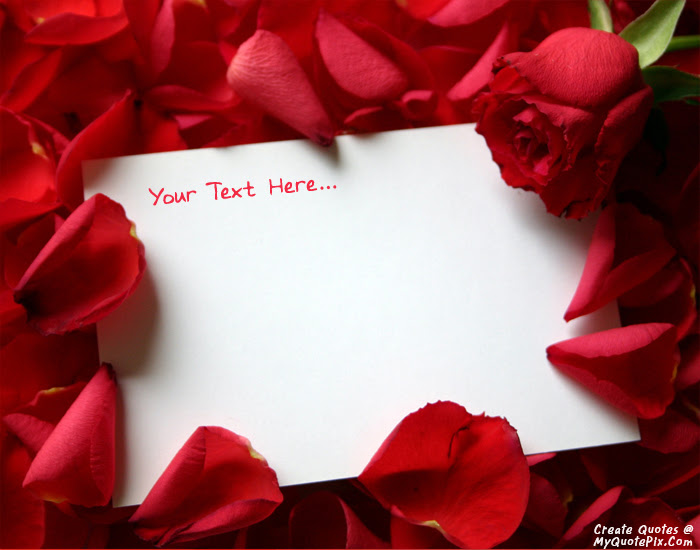 Write Quote On Red Roses Love Note Picture