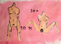 Sex Toys<br />Acrylic on Paper<br />21cm x 29.7cm