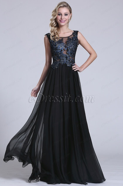Stunning Sleeveless Lace Applique Evening Gown
