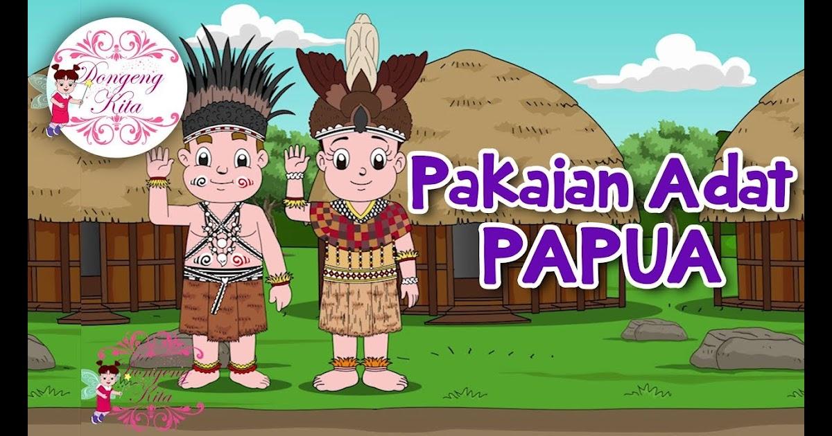 98 Contoh Baju Adat Papua Kartun Paling Hist Modelbaju Id