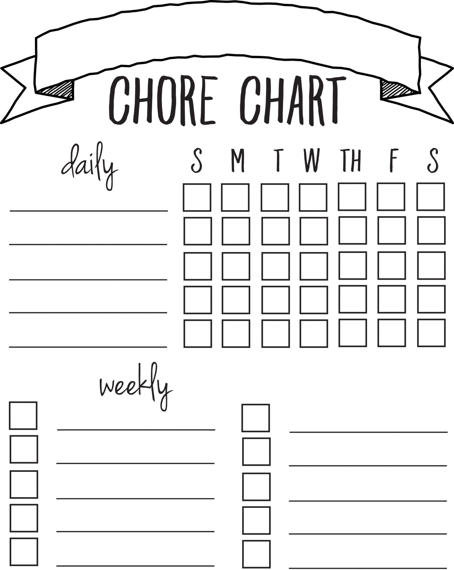DIY Printable Chore Chart - Sincerely, Sara D.
