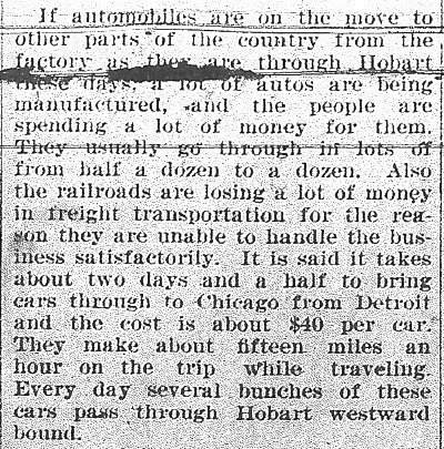 Autos through Hobart