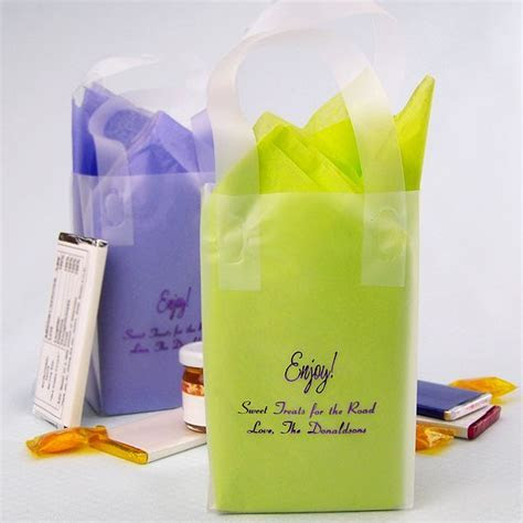 Petite Frosted Gift Bags Personalized   My Wedding