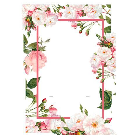 ftestickers frame border flowers pink