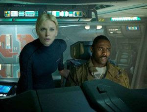 Charlize Theron and Idris Elba in Ridley Scott's ALIEN prequel, PROMETHEUS.