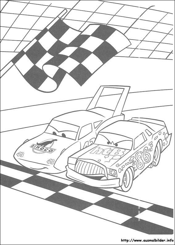 Ausmalbilder Cars Calendar June