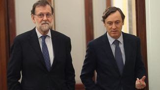 Rajoy i Hernando al Congrés (EFE)