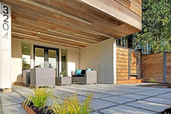 Σπίτι με ένα μίγμα αναγεννημένων και βιώσιμων υλικών