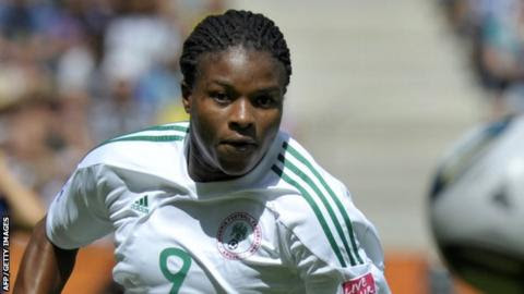 Desire Oparanozie of Super Falcons scores winner in africa women cup final