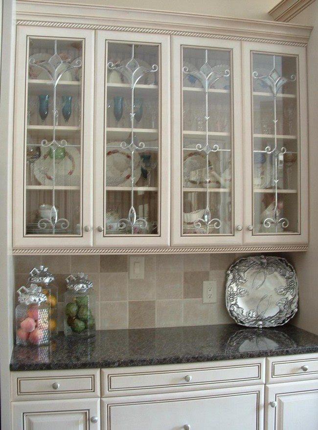 Home Architec Ideas Kitchen Design Glass Cabinets