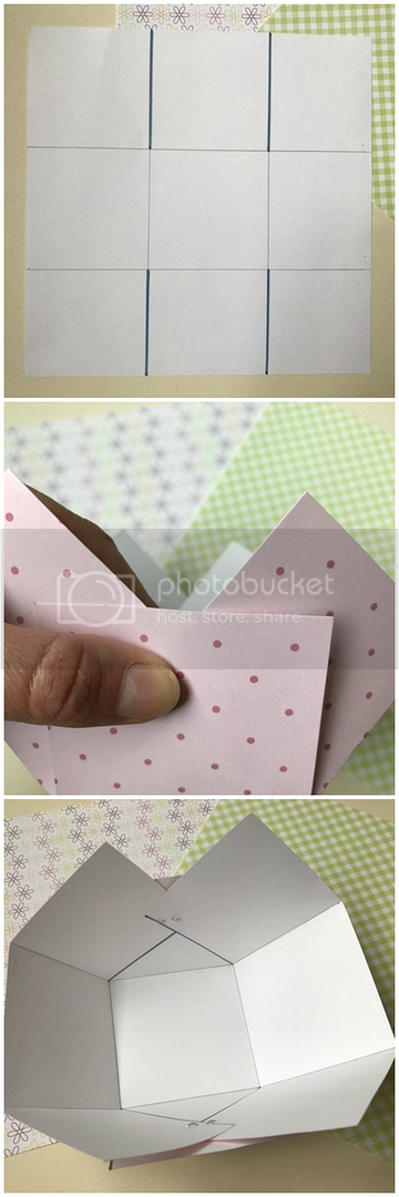 How to make a basket with patterned paper