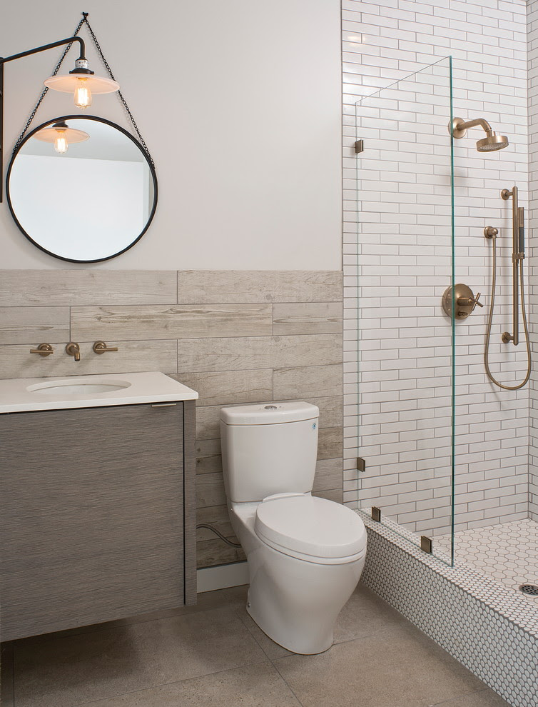 The Options Of Simple Chic Tiled Bathroom Floors And Walls Decohoms