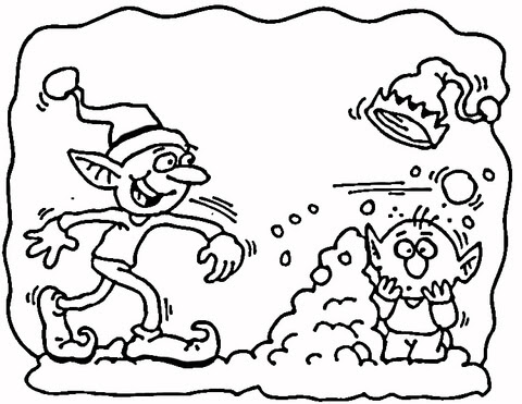 christmas elfs coloring page  supercoloring