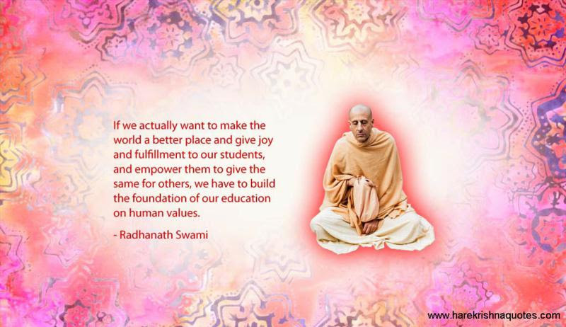 Foundation Of Our Education Spiritual Quotes By Iskcon Desire Tree