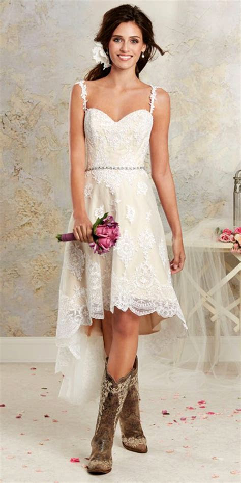 Country Style Two Piece Detachable Wedding Dress   Sexy