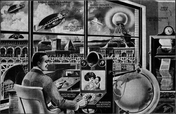 Visão de escritório no ano de 1972 imaginada em 1922