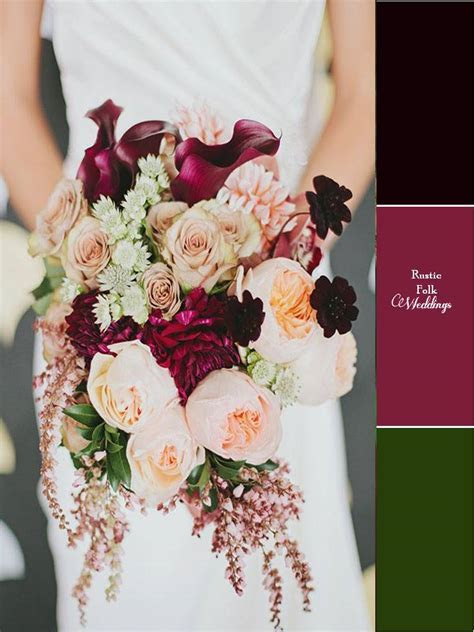 5 Fall Inspired Wedding Color Palettes   Rustic Folk Weddings