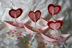 Origami and Felt Valentine's Day Boats