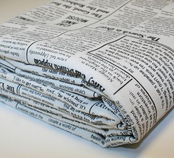 newspaper fabric.