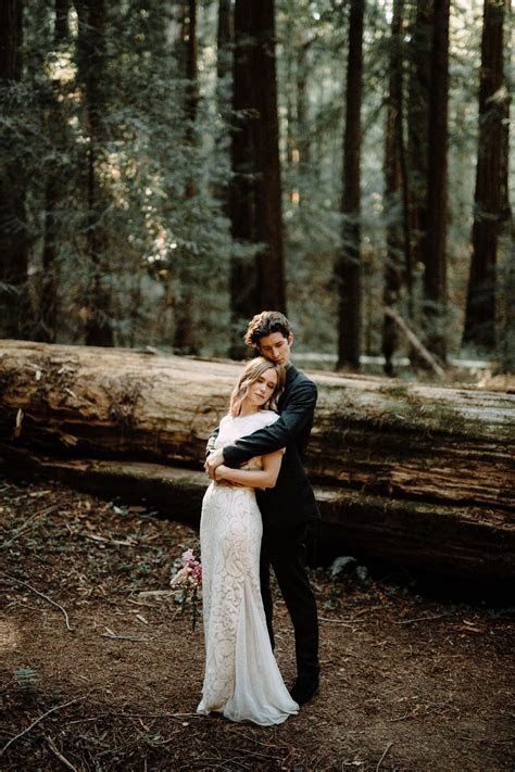 Redwood Wedding. Elopement Ideas. Redwood Forest Elopement