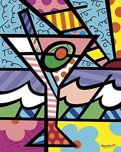 Happy Hour Abstract Poster Print by Romero Britto (16 x 24 in)