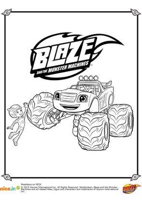 Coloriage Blaze Et Aj Coloriage Blaze Et Les Monster Machines