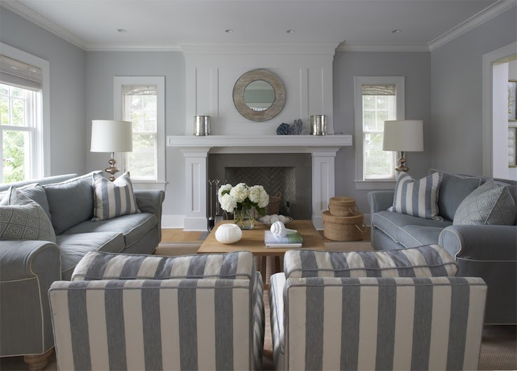 Cool Blue And Gray Living Room Furniture Photos