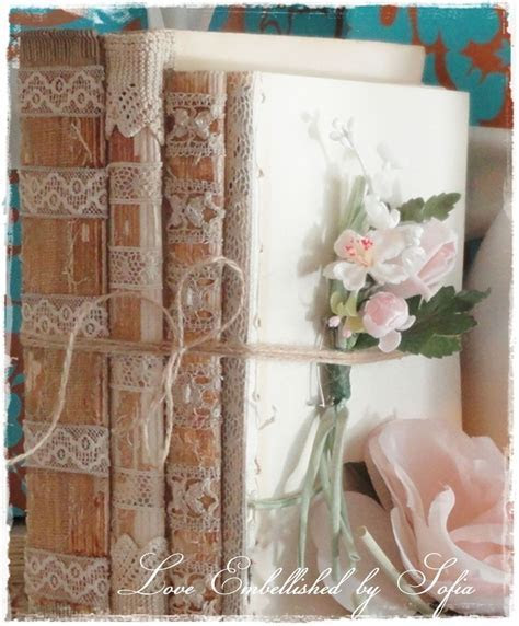 RTS One Book Stack Bundle with Antique Lace Trim Vintage