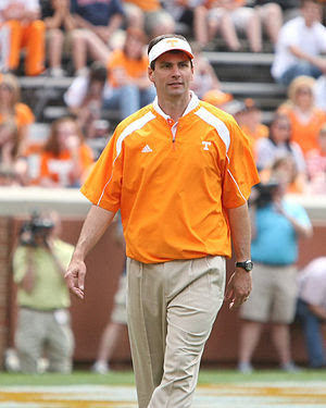 English: Derek Dooley at the Orange and White ...