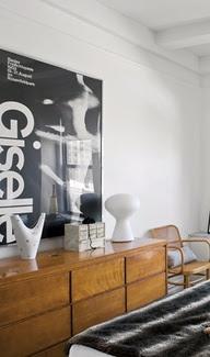 Via Designstudio210 | Bedroom | Black, White and Wood | Giselle Poster