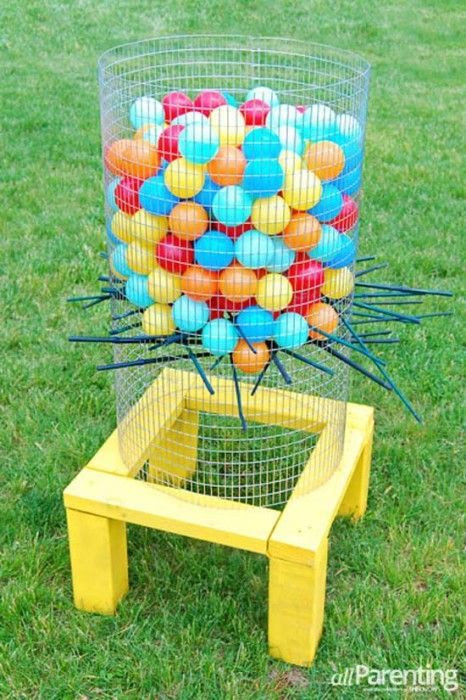 Jumbo Kerplunk Game Backyard