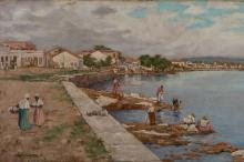 Pintura foi uma das obras que integrou a mostra Paisagens de Porto Alegre