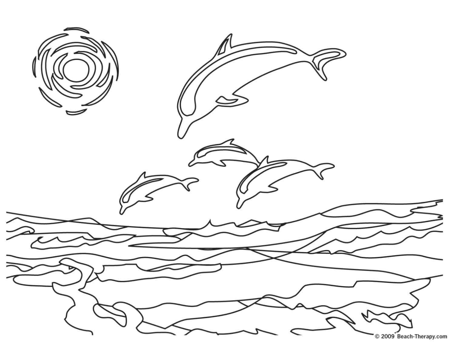 Beach Scenes Coloring Pages - Coloring Home