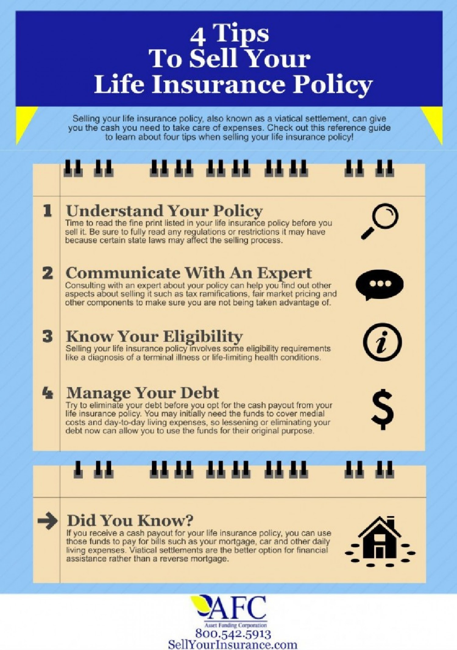 4 Tips to Sell Your Life Insurance Policy | Visual.ly
