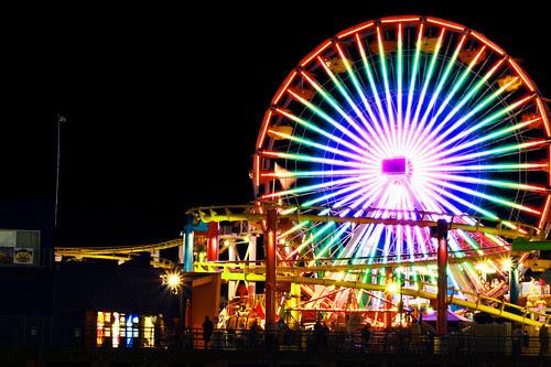 santa monica pier-ferris wheel