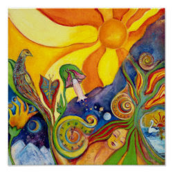 The Dream Fantasy Modern Folk Art Alice Wonderland Poster