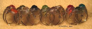 colorful herringbone weave swarovski crystal rings
