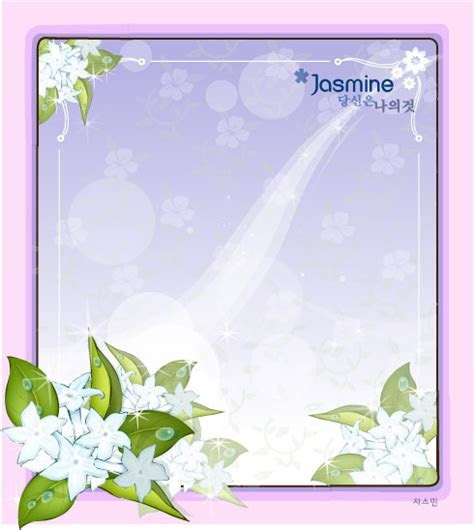Fair Jasmine flower vector frame   Free download