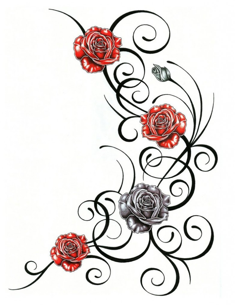 Flower Vine Tattoo Stencils Flowers Healthy