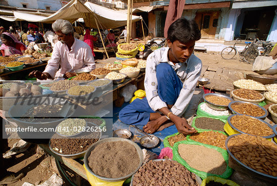 Young man selling nuts and spices, Jodhpur, Rajasthan state, India, Asia    Stock Photo - Direito Controlado, Artist: Robert Harding Images, Code: 841-02826256