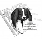 Phalène Dog Scrollsaw Intarsia Woodworking Pattern - fee plans from WoodworkersWorkshop® Online Store - Phalène Dog,pets,animals,dog breeds,yard art,painting wood crafts,scrollsawing patterns,drawings,plywood,plywoodworking plans,woodworkers projects,workshop blueprints