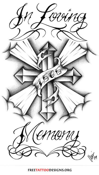 Tattoo Lettering Learn Cross Tattoo Designs In Memory Of