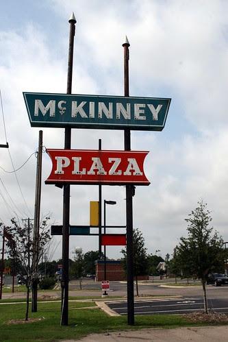 mckinney plaza sign