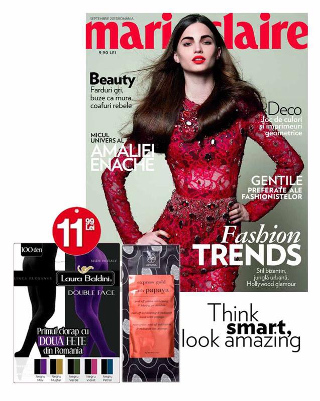 Promo pentru revista Marie Claire Romania, editia Septembrie 2013