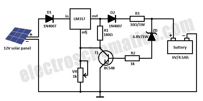 6 volt battery charger circuit diagram